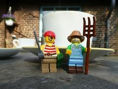 Hooray for Coffee (captain_joe) Tags: toy spielzeug 365toyproject lego series15 minifigure minifig farmer coffee kaffee