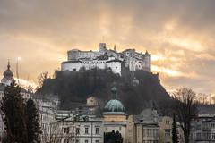 Sunset in Salzburg (Fotos4RR) Tags: historic landmark castle cultural architecture city building tourism europe old history culture famous hohensalzburg festunghohensalzburg festung salzburg sunset winter architektur festungsberg österreich austria