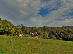 Farm Among the Trees (George Neat) Tags: clouds fields trees barn buildings structures somerset county pa pennsylvania laurelhighlands scenic scenery landscapes outside georgeneat patriotportraits neatroadtrips