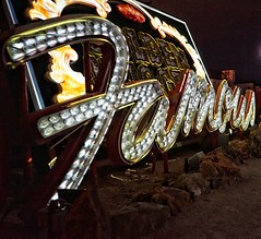 Famous (podolux) Tags: 2019 sony sonya7 sonyilce7 ilce7 a7 lasvegas nevada nv sign signs oneword onewordfamous bulbsign fontspotting font light lights night nighttime