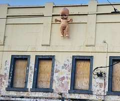 Nobody puts baby in the corner...they put baby on a building (jglsongs) Tags: melbourne australia fitzroy streetart