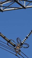 Leiterseile (feldweg2008) Tags: gittersteigen steeltower sky sunset klettern arbeiten geschichte urban industrie latticeclimb art abend tag strommast sendemast turm torre tower bauwerk konstruktion latticeclimbing gittersteiger towerclimbing lineman germany usa travel awesome grid pylon power climb lattice geschichten strommasten abstrakt energie
