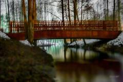 IMG_7047 (denjah) Tags: ulbroka pikurga night latvia фонарь улица снег ночноефото ноч небо зима 2018 river street мост bridge threes деревья город denjahphoto riga