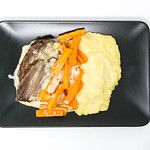 Boiled beef with carrot strips and mashed potato in sauce from Eat Simple thumbnail