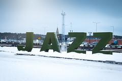 JAZZ (Ilia A) Tags: jazz winter letters klaipeda festival snow city outdoor canon70d 50mm