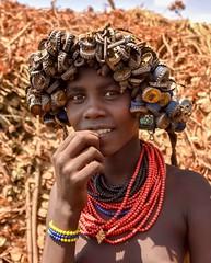 Dassanech Tribe (Rod Waddington) Tags: africa african afrique afrika äthiopien ethiopia ethiopian ethnic etiopia ethnicity ethiopie etiopian omovalley outdoor omo omoriver outdoors dassanech traditional tribe tribal omorate beads minority portrait people