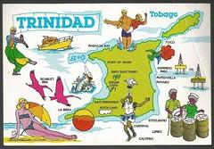 Trinidad & Tobago (tico_manudo) Tags: trinidadtobago vintagepostcards mapcards