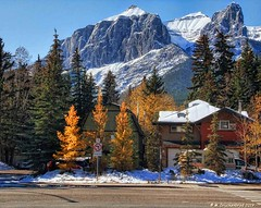 Residential Section of the city of Canmore, Alberta Canada (PhotosToArtByMike) Tags: canmore albertacanada alberta bowvalley canadiancity southerncanadianrockymountains residential town city rockymountains provinceofalberta bowriver vacationhouses residences