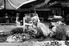 Produce Seller - Tondo, Manila, Philippines (LA Street Moments) Tags: asia manila philippines street streetasia streetphilippines blackandwhite bnw bw