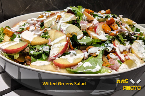 "Wilted Greens Salad • <a style=""font-size:0.8em;"" href=""http://www.flickr.com/photos/159796538@N03/32057652097/"" target=""_blank"">View on Flickr</a>"