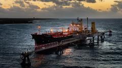 The Isola Celeste at sunrise (Mustang Joe) Tags: public cruise d750 nikon newyears domain caribbean ship oil tanker sunrise bahamas ocean water sky boat sea commercial shipping gas chemical transportation industry