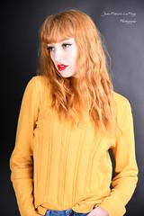 LEO_0139 (jeanfrancoislaforge) Tags: leona leonamoon visage face portrait nikon d850 elinchrom yellow jaune rousse redhead ginger studio beauté beauty