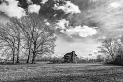Gleason Cabin in B&W († David Gunter) Tags: bw black white cabin gleason tn landscape
