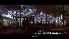 濛濛 (solarliu) Tags: lantern festival light lighting installation art square people taiwan taipei taiwanese night silhouette 燈會 元宵 裝置藝術 燈光 台北 街道 人潮 street