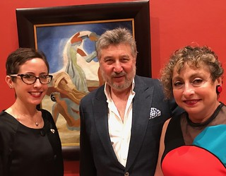 Lowe Art Museum chief curator Dr. Jill Deupi with Anatoly and Maya Bekkerman, at the opening of an exhibition of their collection of  Russian avant-garde art at the Lowe Art Museum.