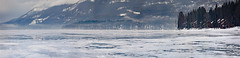 Eastern Shore of Whitefish Lake (wyojones) Tags: montana whitefish whitefishlake citybeach lowclouds clouds ice winter trees slopes mountain houses shoreline feburary snow bigmountain whitefishlodge icecovered