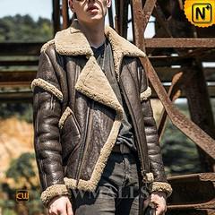 Men Leather Jacket & Leather Shoes | CWMALLS® Sydney Retro Sheepskin Flying Jacket CW808303 [Custom Made] (cwmalls2018) Tags: men sheepskin flying jacket aviator leather custommade vintage fashion shopping