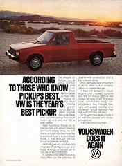 1981 Volkswagen Diesel Pickup Truck USA Original Magazine Advertisement (Darren Marlow) Tags: 1 8 9 19 81 1981 v volkswagen d diesel p pickup t truck c car cool collectible collectors classic a automobile vehicle g german gernany e europe european 80s