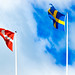 Flags of the United States, Denmark, Sweden and the Netherlands