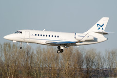 OY-GFS (Andras Regos) Tags: aviation aircraft plane fly airport bud lhbp spotter spotting landing businessjet corporate dassault dassaultfalcon falcon falcon2000 2000lxs