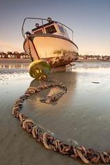 Chains Buoy Boat (daveknight1946) Tags: boat buoy chains essex southend thorpebay mud riverthames fujixt3