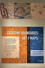 Crossing Boundaries: Art // Maps (AntyDiluvian) Tags: boston massachusetts backbay library bostonpubliclibrary bpl leventhalmapcenter maps exhibit crossingboundaries artmaps map sign