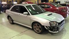 Almost finished (andrew edgar .......) Tags: subaru impreza wrx silver turbo sydney blacktown awd car