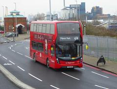 SLN 11018 - YX68UKB - OSF - NORTH WOOLWICH PIER ROAD - FRI 11TH JAN 2019 (Bexleybus) Tags: stagecoach east london north woolwich free ferry pier road foot tunnel tfl route 474 hybrid 11018 yx68ukb adl dennis enviro 400 mmc smart