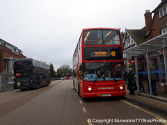 BU04BKJ 4580 National Express West Midlands in Solihull (Nuneaton777 Bus Photos) Tags: national express west midlands alx400 bu04bkj 4580 solihull thankyou100