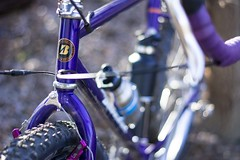 Drop Bar Bridgestone Mb-6 (adrianonymous) Tags: bridgestone gravelgrinder grantpeterson gravelgrinding sacramento brooks brookssaddles bicycle lizardskins 26er purple purplebicycle diacompe