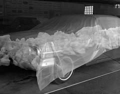 Covered Car in a Window with Snow Reflections, Tekoa, Washington (austin granger) Tags: tekoa washington palouse reflections snow winter car covered window film largeformat chamonix