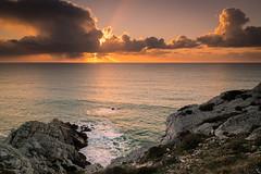 Orangé (autainvillois) Tags: bretagne coucher soleil mer crozon orange rochers