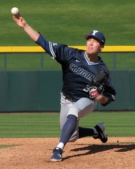 Cougars Relief Pitcher 2 (CODA: MARINE 475) Tags: baseball byu bringhamyoung university college pitcher athlete uniform cap stirrups socks spikes cleats glove navy blue grass field ballpark sports action portrait cougarsvswildcats