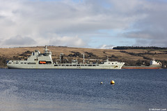 RFA Tidespring, A136, IMO 9655535, and the UK registered oil and chemical tanker Erin Schulte, IMO 9439814; Loch Long, Firth of Clyde, Scotland (Michael Leek Photography) Tags: ship vessel tanker oiltanker oilindustry chemicaltanker replenishmentship rfa royalfleetauxiliary royalnavy rn lochlong firthofclyde scotland scottishcoastline scottishlandscapes scotlandslandscapes scottishshipping cowal cowalpeninsula argyllandbute argyll thisisscotland scotlandinwinter hmnbclyde hmnb hmsneptune faslane gareloch blairmore strone merchantship merchantnavy merchantvessel britainsarmedforces britainsnavy michaelleek michaelleekphotography westcoastofscotland westernscotland