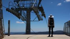Mt Buller, Victoria, Australia (Josh Khaw) Tags: mount buller summer silhouette shadow woman tourist