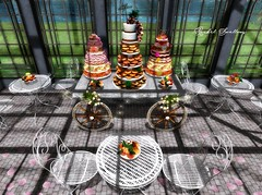 DONUT PARTY (Rachel Swallows) Tags: props poses decor donuts cakes dessert roleplay party buffet secondlife landscape aphrodite sense sanarae events