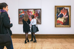 Admiration (Ktoine) Tags: museum people candid russia moscow tretyakov gallery legs girls boots heels art friends culture composition