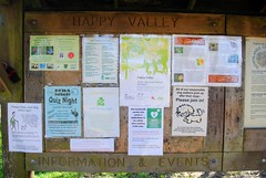 Happy Valley information board (zawtowers) Tags: london loop section 5 five hamseygreentocoulsdonsouth walk amble stroll walking exploring outer suburbs green spaces sunday 24th march 2019 warm dry sunny afternoon blue skies sunshine happy valley information board