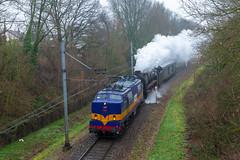 RXP 1251 + SSN 01 1075 en waterwagen (Durk Houtsma.) Tags: rxp 1251 br0110 br01 simpelveld kerkrade landgraaf ssn railexperts 011075 chevremont limburg nederland nl