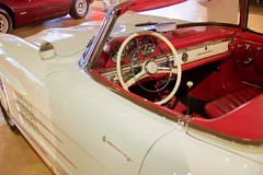 Mercedes Benz 300SL roadster. Ivory over red. DSC_0816 (wbaiv) Tags: bruce canepa service restoration interesting high performance car automobile motor vehicle sports racing showroom museum walkway above bays scotts valley california open 930 600 five days week classic cars driven daily mercedes benz 300sl roadster ivory red interior