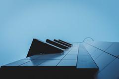 kind of blue (Zesk MF) Tags: blue zesk cologne x100f fuji building architecture up sky minimal street jazz