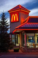 Flagstaff neon mac (ezeiza) Tags: arizona az flagstaff mcdonalds goldenarches golden arches fastfood fast food restaurant sign drivethrough drivethru drive through thru mansard roof neon tree