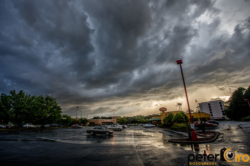 Severe Storm Clouds over Tucker, Georgia on 4-14-2019