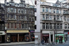 Cheapside`1974-2019 (roll the dice) Tags: london city squaremile victorian ec2 shops shopping streetfurniture architecture sad mad surreal old local history retro bygone changes collection windows oldandnew pastandpresent hereandnow anon tourism tourists nostalgia comparison urban fashion england uk classic art american sweets culture woolworths timpson telephone trees keys toys ladybird ashops bargain dirty bollards traffic people