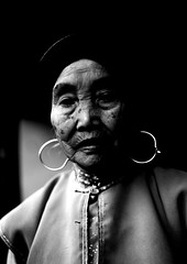 Old Mongolian Minority Woman, Tong Hai, Yunnan Province, China (Eric Lafforgue) Tags: a6825 adultsonly asia blackandwhite china clothing earring frontview moghul mongolian mongolianethnicity onepeople oneperson onewomanonly realpeople tonghai traditionalclothing traditionalculture vertical waistup womenonly yunnan yunnanprovince