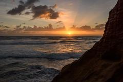 Ponto Cliffs Sunset #1 (CloudRipR) Tags: beach sand shore waves ocean sun sunset clouds california southerncalifornia socal carlsbad pontobeach cliff