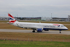 G-LCYU Embraer EMB190SR BA Cityflyer Stansted 12th January 2019 (michael_hibbins) Tags: glcyu embraer emb190sr ba cityflyer stansted 12th january 2019 aircraft airliner airline passanger passenger commercial civil aeroplane aerospace aviation aero airfields airport airplane airports plane planes jet jets