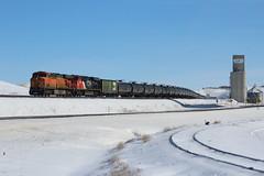 Rolling crude (ujka4) Tags: shelby montana mt es44ac 5739 snow grainelevator