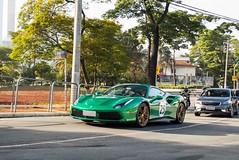70th Anniversary (Andre.Silot) Tags: ferrari 488 gtb v8 v 8 turbo 70th anniversary anni 70 th green verde jewel são paulo sp brasil brazil bra br nikon d3200 d 3200 exotic car street rua