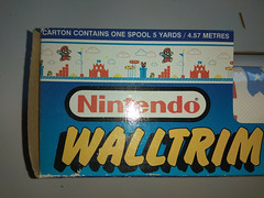 North American Decorative Products Super Mario Bros Nintendo Wall Trim 27 (gamescanner) Tags: north american decorative products super mario bros nintendo wall trim covering walltrim decor sculpted vinyl border upc 058559709011 058559709035 rosewall inc 1989 sku 70902